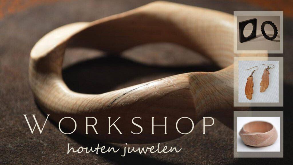 Workshop houten juwelen Juweelontwerper Erik Van den Bulck